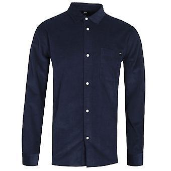 Edwin Minimal Long Sleeve Navy Corduroy Shirt