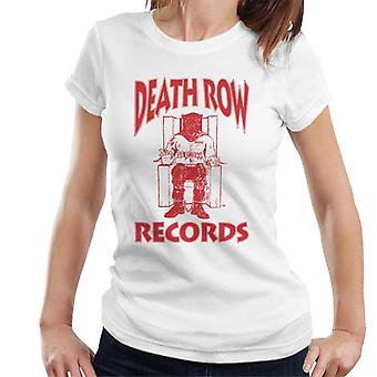 Death Row Records stoel Logo rood dames T-Shirt