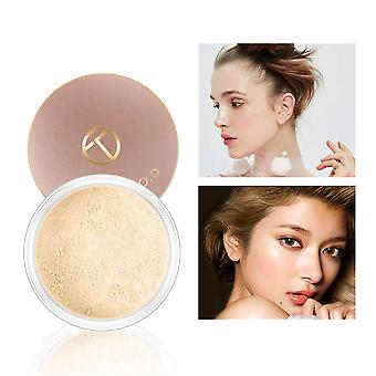 Smooth Matte Loose Powder Makeup Transparent Finishing Powder Waterproof For Face With Cosmetic Puff
