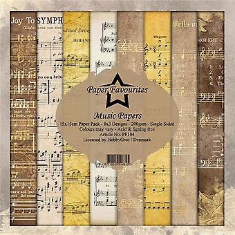 Dixi Craft Paper Favourites Music Papers 6x6 Inch Paper Pack