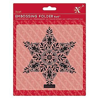 Xcut Embossing Folder 6x6 Inch Foliage Star