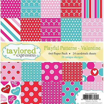 Taylored Expressions Playful Patterns Valentine 6x6 Inch Paper Pack
