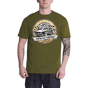 Bitchin Rides T Shirt Utah Custom Cars Distressed Logo new Official Mens