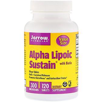 Jarrow Formulas, Alpha Lipoic Sustain with Biotin, 300 mg, 120 Tablets
