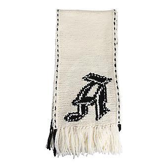 Alexander Mcqueen 626408q1wze9213 Men's White Wool Scarf