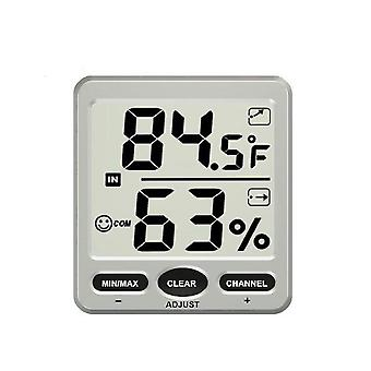 Wireless Indoor Outdoor Thermometer Hygrometer Silber Weiß
