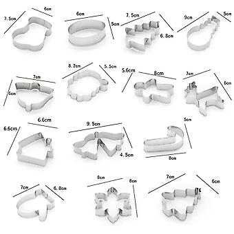 Gingerbread Molds 14 Parts Stainless Steel Cakes Christmas Eve