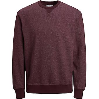 Jack & Jones Melange Crew Neck Sweatshirt Burgundy 82