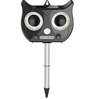 Water resistant ultrasonic shockers against animals and insects, solar cell - Black cat