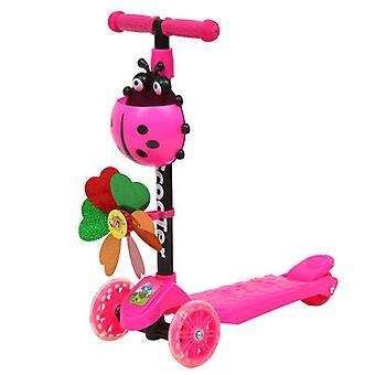 Windmill Ladybug Scooter Foldable And Adjustable, Height Lean To Steer 3 Wheel