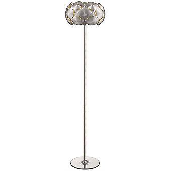 4 lichte vloerlamp chroom, E27