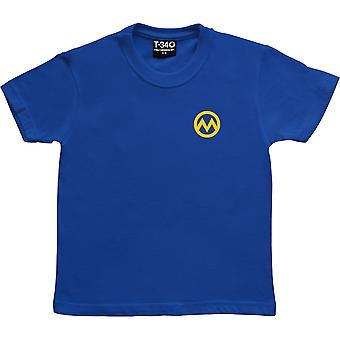 Manchester M (Pocket Print) Royal Blue Kids' T-Shirt
