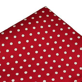 Ties Planet Red & White Polka Dot Pocket Square