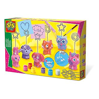 SES Creative Children's Memo Houders Casting and Painting Set Multi-colour 1357