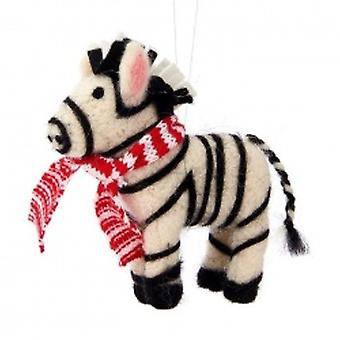 Sass and Belle Christmas Zebra Decoration