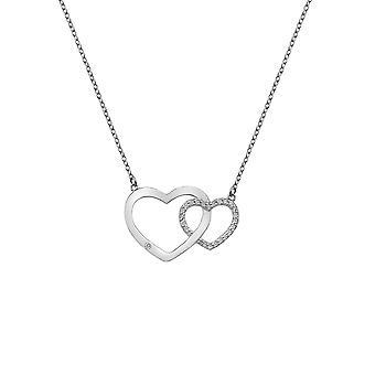 Hete diamanten Bliss in elkaar grijpende harten hanger DN128
