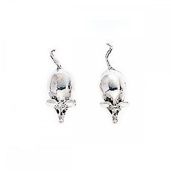 Beginnings Sterling Silver A730 Mouse Stud Earrings