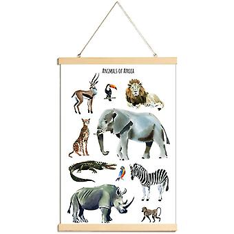 JUNIQE Print -  Animals of Africa - Wildtiere Poster in Braun & Grau