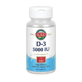 Kal Ultra D-3, 5 000 IU, 60 tabia