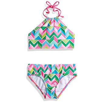 Kanu Surf Big Girls' Mahina Beach Sport Halter Bikini 2-Piece Swimsuit, Blue,...