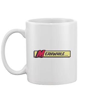 Meanwhile Comic Book Style Mug -Image by Shutterstock