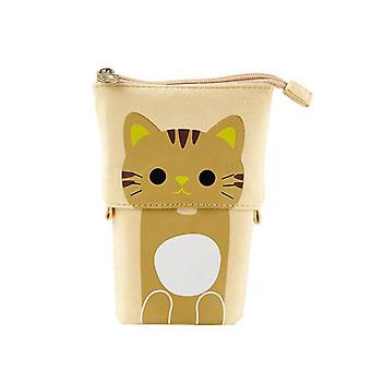 Big Cat Cute, Pencil Case Box, Fabric Quality For School Stationery