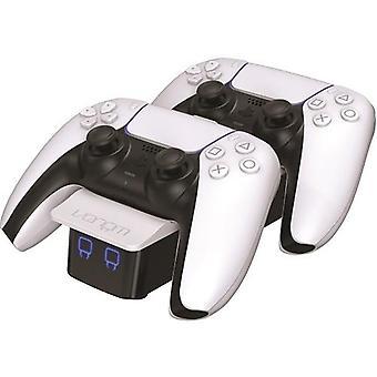 Dual sense controller twin docking station - white (ps5)
