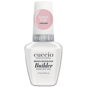 Cuccio LED/UV Soak Off Gel Polish Brush On Colour Builder - Sassy Pink 13ml (CPGL6263)