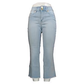 IMAN العالمية شيك المرأة & ق جينز منتجع فاخر 360 سليم المحاصيل الأزرق 685-843
