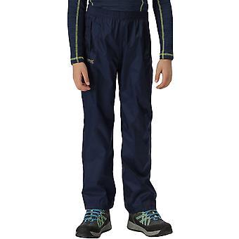 Regatta Kids Juniors Pack It Waterproof Outdoor Walking Overtrousers - Navy