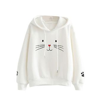 Sports Cute Cat Jacket, Sweatshirt Basketball Hoodie Plus Velvet