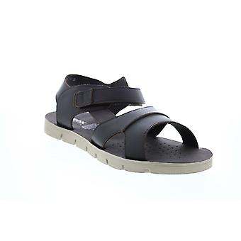 Geox U Glenn F Mens Black Leather Strap Sport Sandals Chaussures