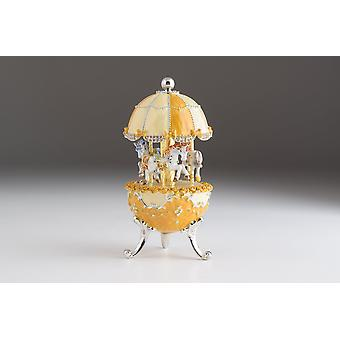 Faberge Ei Karussell Wind Up Musik Trinket Box