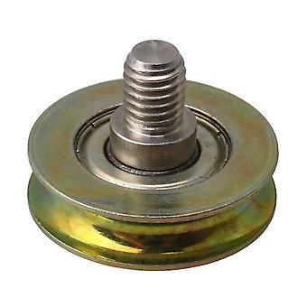 32x8.3mm metall U type kulelager hjul M8 gjengen stang 3mm radian
