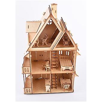 לפתח ילדים אינטליגנציה עץ פאזל 3D 218 חתיכות - וילה גותית