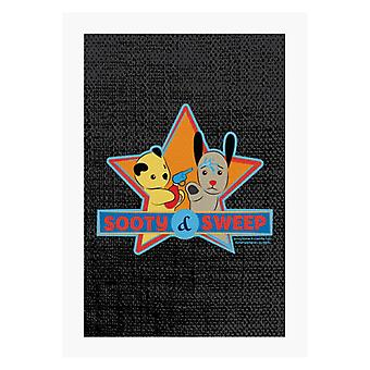Sooty And Sweet Water Fight A4 Print