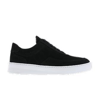 Filling Pieces Low Mondo Plain Nardo Nubuck Black 33026311861 shoe