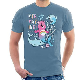 Care Bears Desbloquear The Magic Cheer Bear Mermazing Dolphins Men's T-Shirt