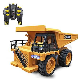 Rc Truck Bulldozer / Dumper Caterpillar Tractor, Graafmachine Push Soil Kids
