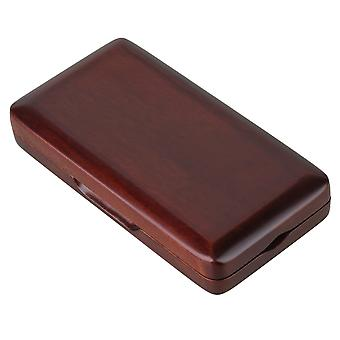 Maroon Solid Wood Oboe Reeds Kotelo 3 Reeds Säilytyslaatikko Suojaa reed kiinteä