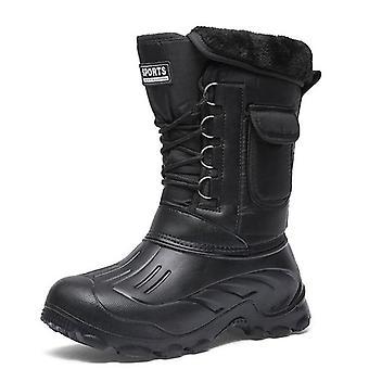 Män vinter varm vattentät sneakers, snö jobb stövlar, manliga skor, skor