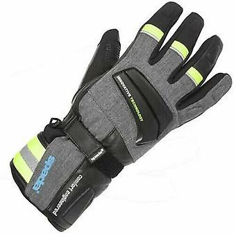 Spada Latour Leather Motorcycle Gloves Black Touring Armoured Hi-Vis Waterproof
