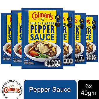 6 Packs Colman's Quick Pour Over, Pepper Sauce, 40g