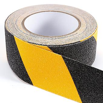 10 Meters Anti-skid Adhesive Tape Width 50mm Black Yellow - Safety & Visibility!