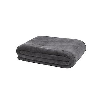 Bambury Microplush Throw Rug Charbon de bois
