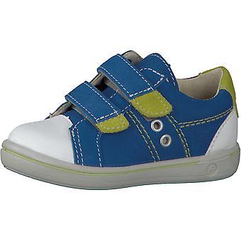 RICOSTA Double Velcro Fashion Trainer Blue & Green