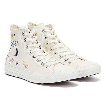 Converse All Star It's Ok To Wander Hi Womens White Trainers