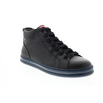 Camper Runner Four Mens Black Leather Euro Sneakers Chaussures