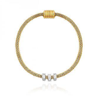 Joma Jewellery Halo Gold Silver Venetian Chain Bracelet 4049
