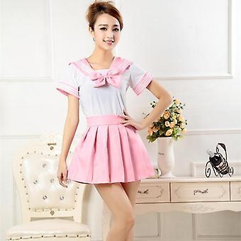 Stile giapponese, camicia da marinaio + set gonna plissettata- Cosplay donna, costumi, Jk